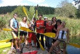 Plaukimas baidarėmis Strėvos arba Verknės upe
