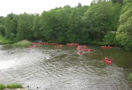 Plaukimas baidarėmis Vilnele