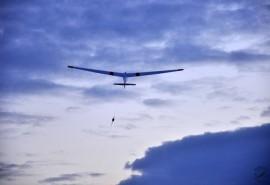 Aukštuminis skrydis dviviečiu sklandytuvu virš Panevėžio miesto