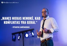 """Apsilankymas Vytauto Jančiausko seminare """"Apie santykius kitaip"""""""