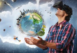 Virtualios realybės žaidimų komplektas draugų kompanijai