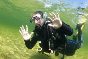 Pažintinis nėrimas ir povandeninė fotosesija Platelių ežere