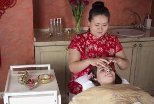 """Kiniškas veido ir kaklo masažas su kauke """"Rytų perlas"""""""