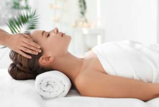 Atpalaiduojantis nugaros, sprando, galvos masažas
