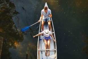Romantiškas plaukimas baidarėmis Verknės aukštupiu