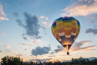 Romantiškas skrydis dviem oro balionu