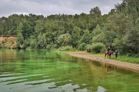 PLAUKIMAS LAIVU + JODINĖJIMAS žirgais pakrante