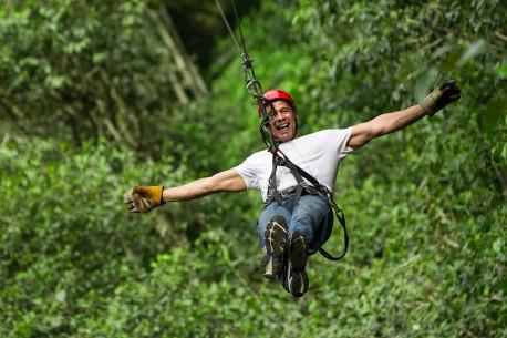 Laipynės ir drambliaskrydis nuotykių parke MINIMELTS suaugusiems