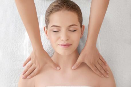 Galvos pečių juostos ir rankų masažas