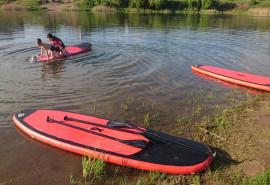 Plaukimas irklentėmis Kauno mariose arba Lampėdžio ežere