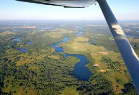 Įsimintinas skrydis virš Alaušo ežero