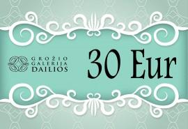 """Grožio galerijos """"Dailios"""" dovanų čekis 30 Eur"""