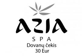 """""""Azia SPA"""" dovanų čekis (30 Eur)"""