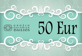 """Grožio galerijos """"Dailios"""" dovanų čekis 50 Eur"""