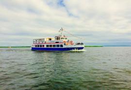 """Plaukimas laivu """"Forelle-Flicka"""" į Nidą ir atgal"""