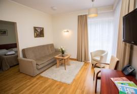 2 nakvynės mini Apartamentuose 4* viešbutyje Royal SPA Residence Birštone dviem